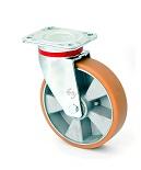 Колесо поворотное в усиленном кронштейне 4402-ELR-200-B