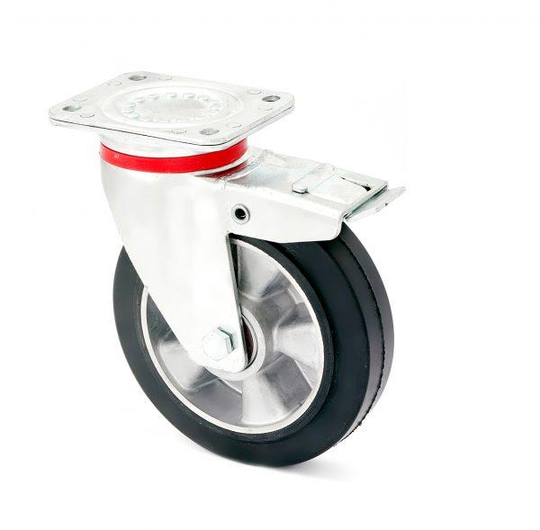 Колесо поворотное усиленное с тормозом 1704-LR-160-B