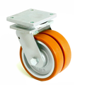 Колесо поворотное STANDART с крепежной панелью и тормозом 2104-ST-125-P