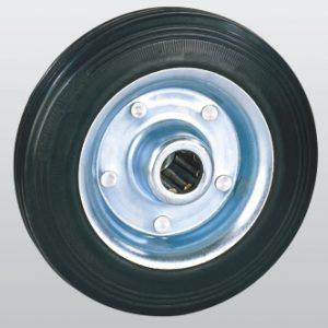 Колеса из черной резины с роликовым подшипником 10-100х30-R