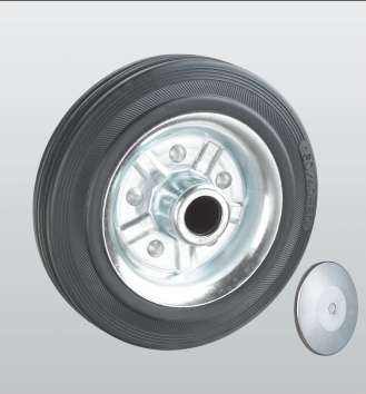 Колесобез кронштейна с роликовым подшипником из стандартной черной резины 11-300х70-R
