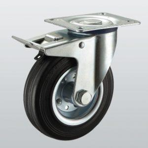 Колесо поворотное с крепёжной панелью и тормозом 1104-ST-075-R