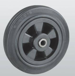 Обзор: колеса из черной резины с полипропиленовым слоем