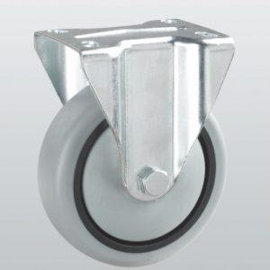 Аппаратное колесо неповоротное с крепежной панелью 3207-ST-080-R