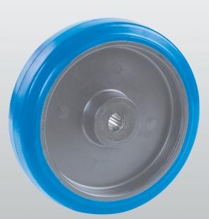 Колеса и ролики из эластичной резины с полиамидным центром серия 33