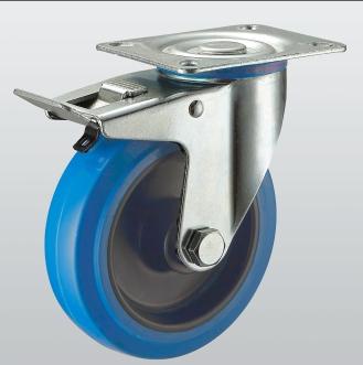 Колесо поворотное с крепежной панелью и тормозом 3304-ST-160-R