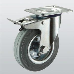 Колесо поворотное с крепежной панелью и тормозом 1504-ST-080-R