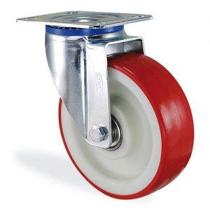 Колесо поворотное с крепежной панелью из полиамида LARGE 4102-LR-100-B
