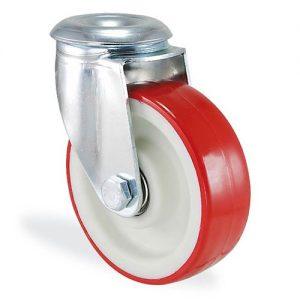Колесо поворотное с отверствием из полиамида 4105-ST-100-B Standart