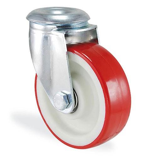Колесо поворотное с отверствием из полиамида 4105-ST-125-B