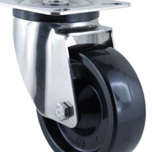 Колесо поворотное термостойкое с крепежной панелью 5102-TR-100-R (тефлоновая втулка)