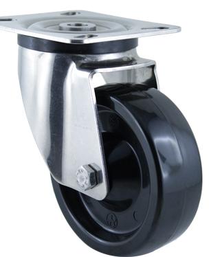 Термостойкое поворотное колесо с платфорой MGZ100L