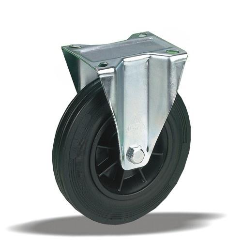 Колеса из стандартной черной резины с полипропиленовым центром серия 12 STANDART,PROFI